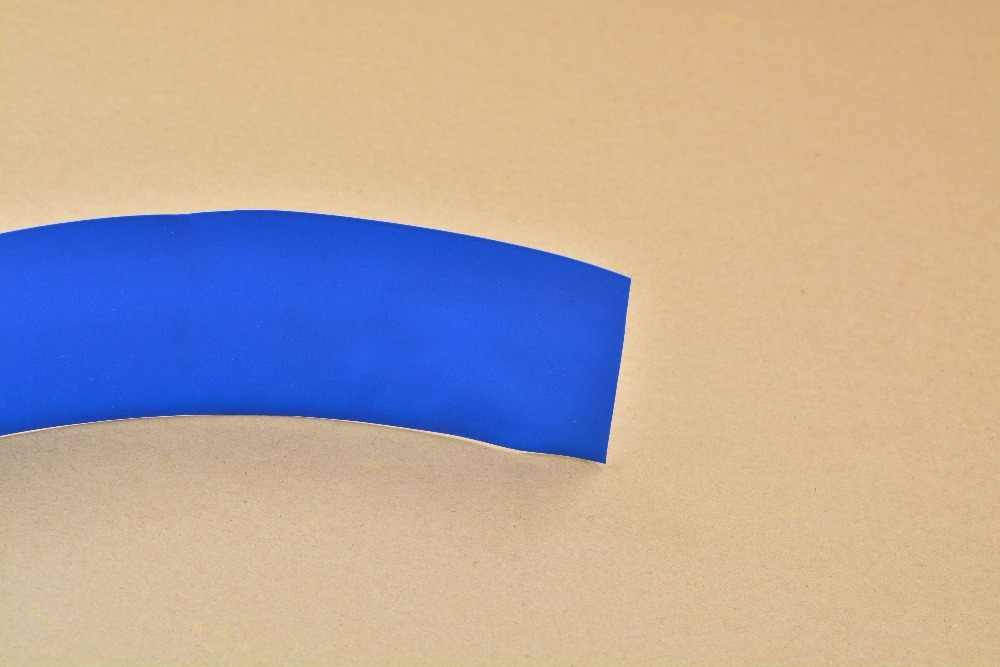 Ширина сглаживания 65 мм прозрачный черный синий белый много цветов ПВХ термоусадочная трубка картридж батарея корка