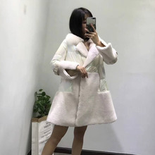 Real fur coat 2019 new plus size abrigos mujer invierno korean white down jacket skirt style parka real fox collar clothing