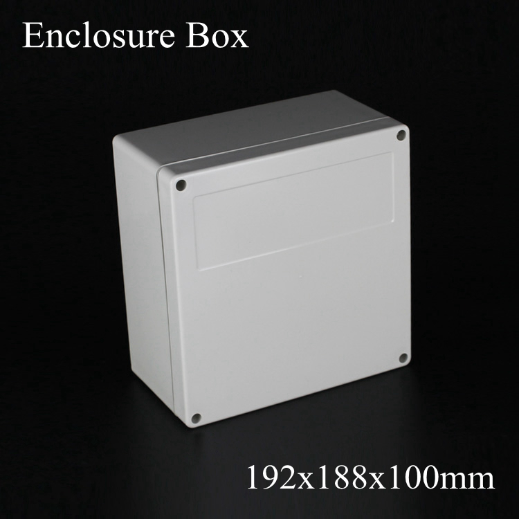 (1 piece/lot) 192*188*100mm Grey ABS Plastic IP65 Waterproof Enclosure PVC Junction Box Electronic Project Instrument Case waterproof abs plastic electronic box white case 6 size