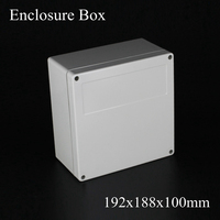 1 Piece Lot 192 188 100mm Grey ABS Plastic IP65 Waterproof Enclosure PVC Junction Box
