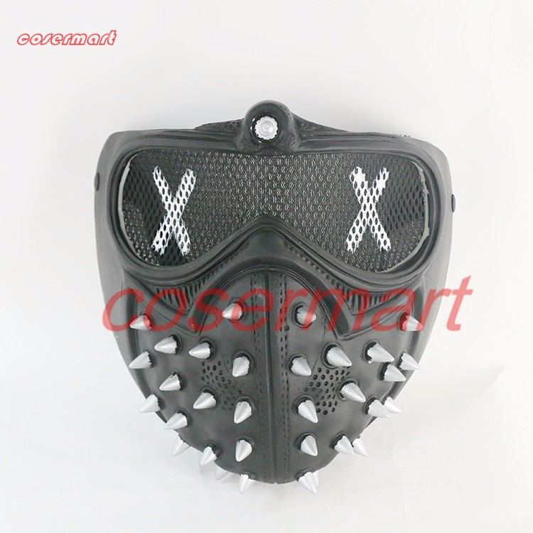 Game Cosplay Mask Watch Dogs 2 Mask Marcus Holloway Mask Casual Tangerine Mask Halloween Party Prop (9)