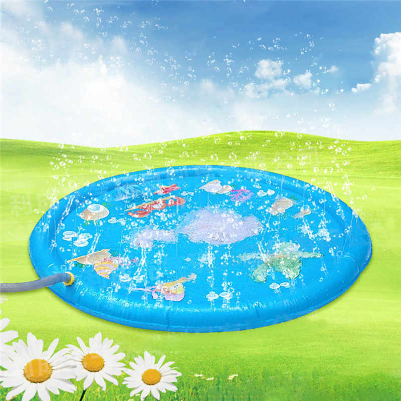 100 CM water spray mat toy Outdoor Summer Fun Game Party Toy Inflatable Spray Water Cushion Toys Swiming Pool Water Playing Mat