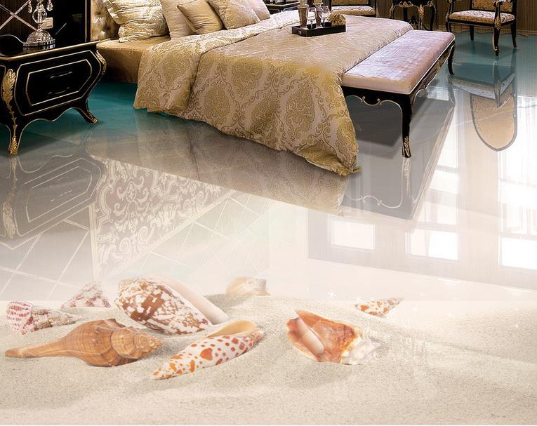 3d Floor Painting Beach sea starfish shells Photo Wall Mural 3d Floor Wallpapers For Living Room Vinyl Flooring Self adhesive starfish beach style pillow case