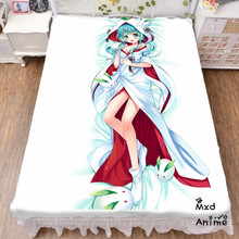 Japanese Anime Hatsune Miku Snow Bed sheet Throw Blanket Bedding Coverlet Cosplay Gifts Flat Sheet cd026