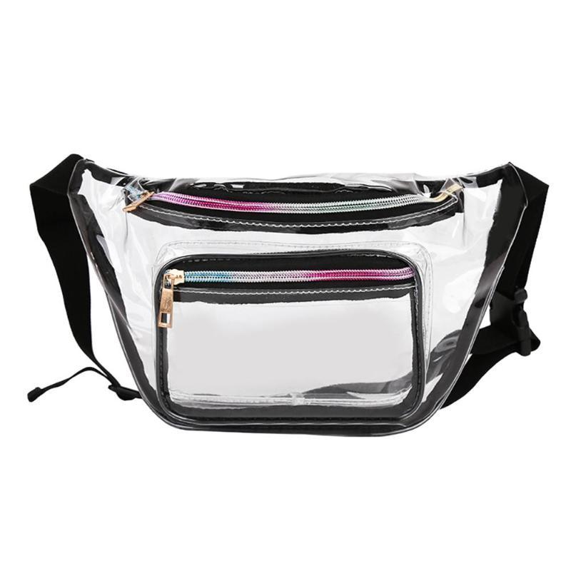 Transparent PVC Waist Packs Women Girls Casual Pouch Fanny Chest Clear Shoulder Bags Trendy Ladies Waist Bag Brand Design Bolso
