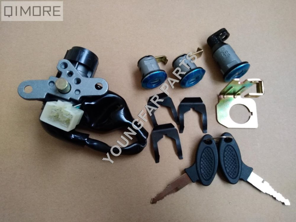 4-wire Ignition Switch Lock Key Set For Scooter Moped TNG