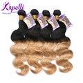 Ombre Бразильского виргинские волос парики для чернокожих женщин Бразильский плетение волос пучки 4 шт. али мода волосы аннабель Ombre Бразильский волос