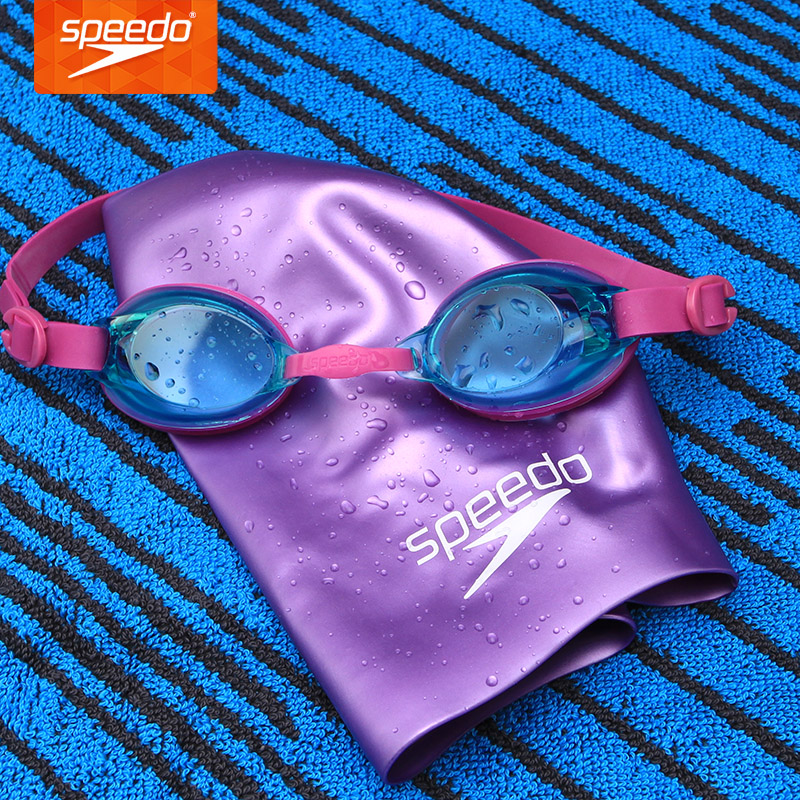 32b5ee607ac Speedo Children Antifog Goggles +Swimming Cap Set Waterproof Boy s and Girl s  Swimming Equipment 6 14 Years Old-in Swimming Eyewear from Sports ...