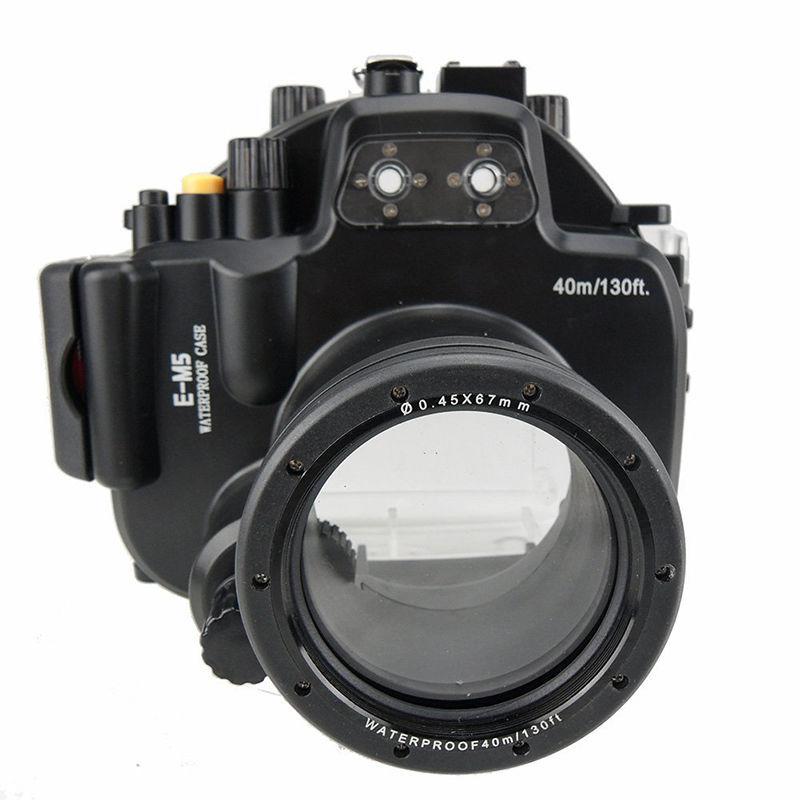 Meikon 40M Waterproof Underwater Camera Housing Diving Case for Olympus E M5 EM5 12 50mm 12