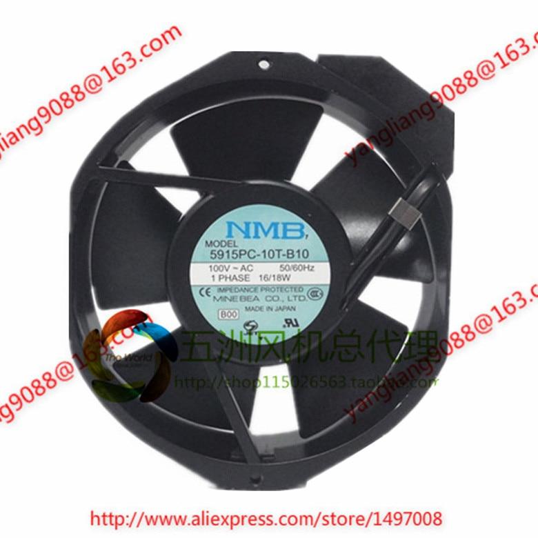 NMB-MAT 5915PC-10T-B10, B00 AC 100V 16W, 172x172x38mm Server Round fan ebmpapst a6e450 ap02 01 ac 230v 0 79a 0 96a 160w 220w 450x450mm server round fan outer rotor fan