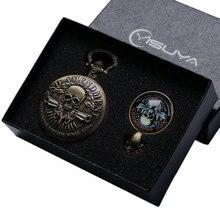 Antique Pocket Watch Gifts Sets 2ND Amendment Defending Since 1971 Souvenir Skull Quartz Pocket Watch Jewelry Sets