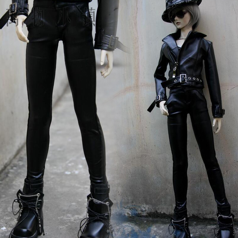 New 1/3 1/4 BJD SD MSD Doll Clothes Black Elastic Fashion handsome Trousers new handsome fashion stripe black gray coat pants uncle 1 3 1 4 boy sd10 girl bjd doll sd msd clothes