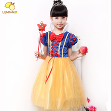 Kids Baby Girls Dresses Snow White Princess Dress Cartoon Cosplay Girl Dresses Kids Clothes Masquerade Dress