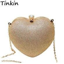 Tinkin Mini Frauen Herz Perle Tasche Mode Abendtasche Teil Zeit Muss Haben Tasche Beste Umhängetasche Handy Fall