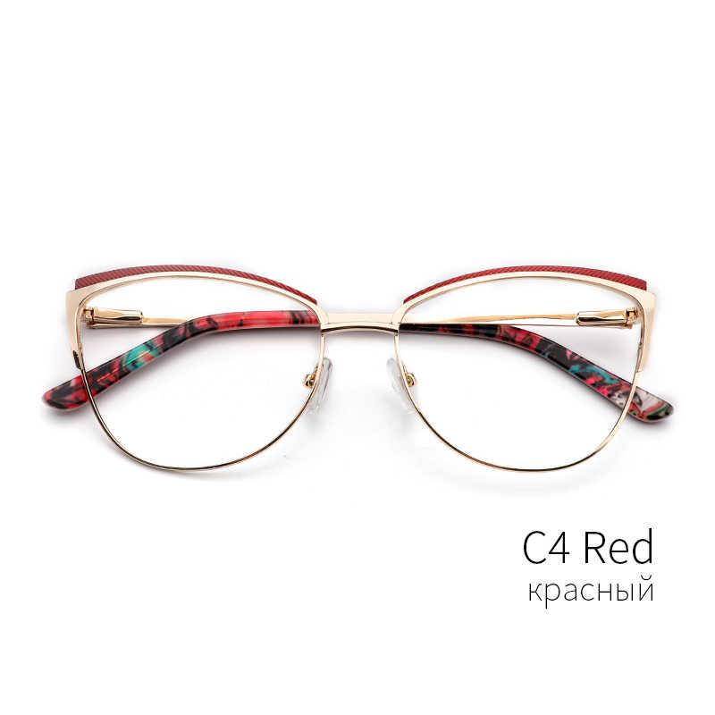 409d1a1d201 ... Metal Women Metal Glasses Frame Cat Eye Glasses Women Myopia Optical  Clear Eyeglasses Frame Brand Designer ...