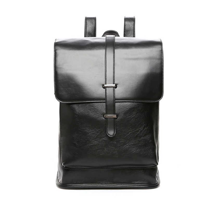 KatyPaul для мужчин бизнес высокое качество рюкзак брендовые кожаные повседневное стиль путешествия ноутбук человек школьные р
