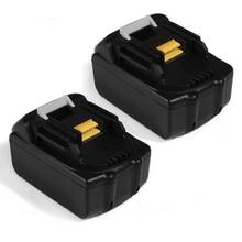 Top Deals 2x 18V 4.0AH Li-Ion Battery For Makita BL1830 Power Tool Black