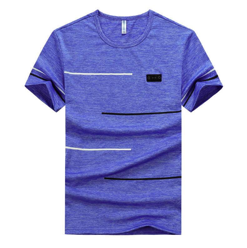 Grande taille M ~ 7XL 8XL 9XL marque d'été hauts et t-shirts séchage rapide Slim Fit T-shirt hommes vêtements de sport à manches courtes T-shirt