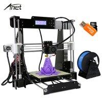 3D Printer Auto Level A8 Reprap Prusa I3 DIY 3D Printer Kit With Filament 8GB Card