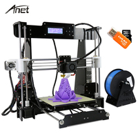 3D Printer Auto Level A8 Reprap Prusa I3 DIY 3D Printer Kit With Filament 8GB Card
