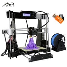 Anet A8 Impresora 3D Impresora Auto Nivelación/I3 Normal Imprimante 3D Semillero de Aluminio Kit DIY Regalo 8G Tarjeta SD 10 M PLA filamento