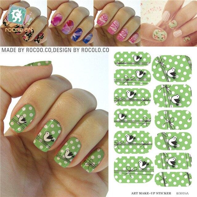 Para las uñas diseño Kits de manicura Patch etiqueta engomada del ...