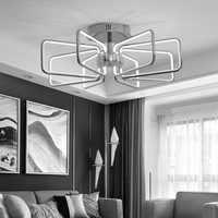 LICAN Chrome finition plafond moderne à LEDs lumières pour salon chambre étude salle plafonnier luminaires luminaire plafonnier