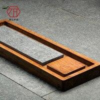 Zong бамбук/дерево чайный большой черный камень чайный поднос наряду Новинка китайские производители оптовая продажа