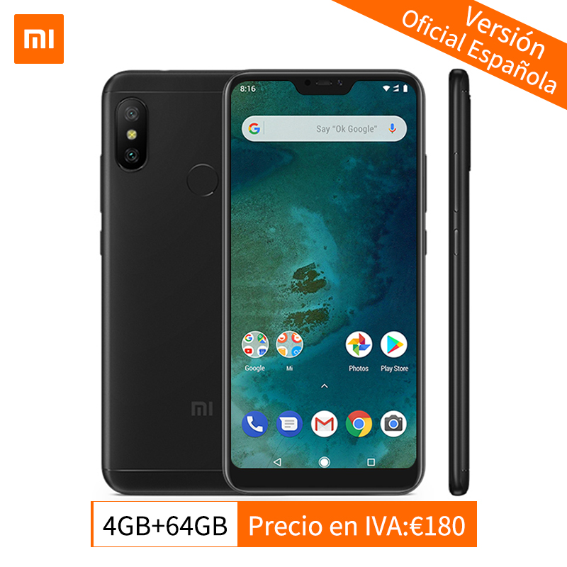 Globale Version Xiao mi mi A2 Lite 4 gb 64 gb Handy Snapdragon 625 Octa Core 5,84