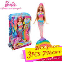Barbie Original Brand Collection Doll Colorful Dream Series Cute Mermaid Baby Toy Barbie Boneca Mode DHC40 Free Shipping