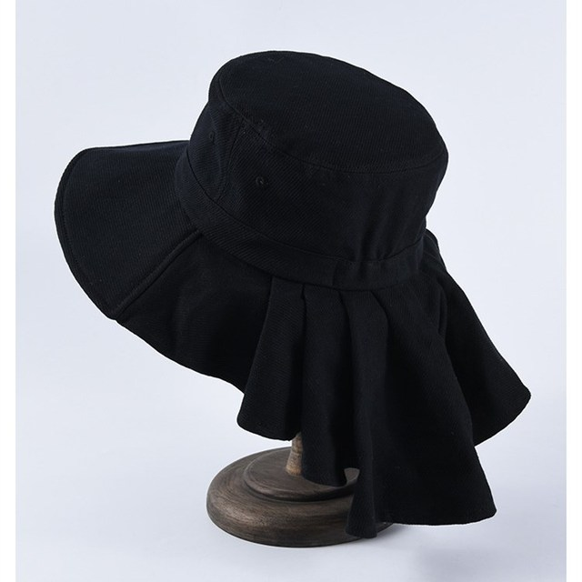 EOEODOIT Women Spring Summer Big Hats Wide Brim Bucket Sun Anti Protection Neck Cotton Caps