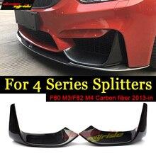 M3 F80 M4 F82 передний бампер спойлер Углеродного Волокна Splitter для BMW 3-4 серии M3 F80 M4 F82 2012-2018 420i 428i 430i 440i 4 серии