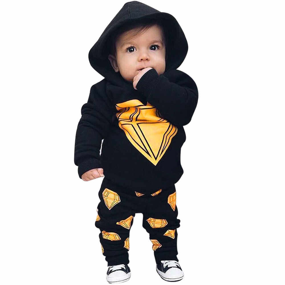 3cafceb135fe6 baby boy clothes newborn infant clothing long sleeve Hooded top+long pants  kid clothes bebes