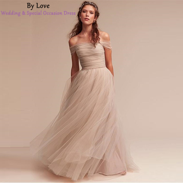 y Love New Tulle Wedding Gown With Bell Sleeveless Appliqued Wedding Dress 2017 Sexy A-line Vestidos De Noiva Bridal Size