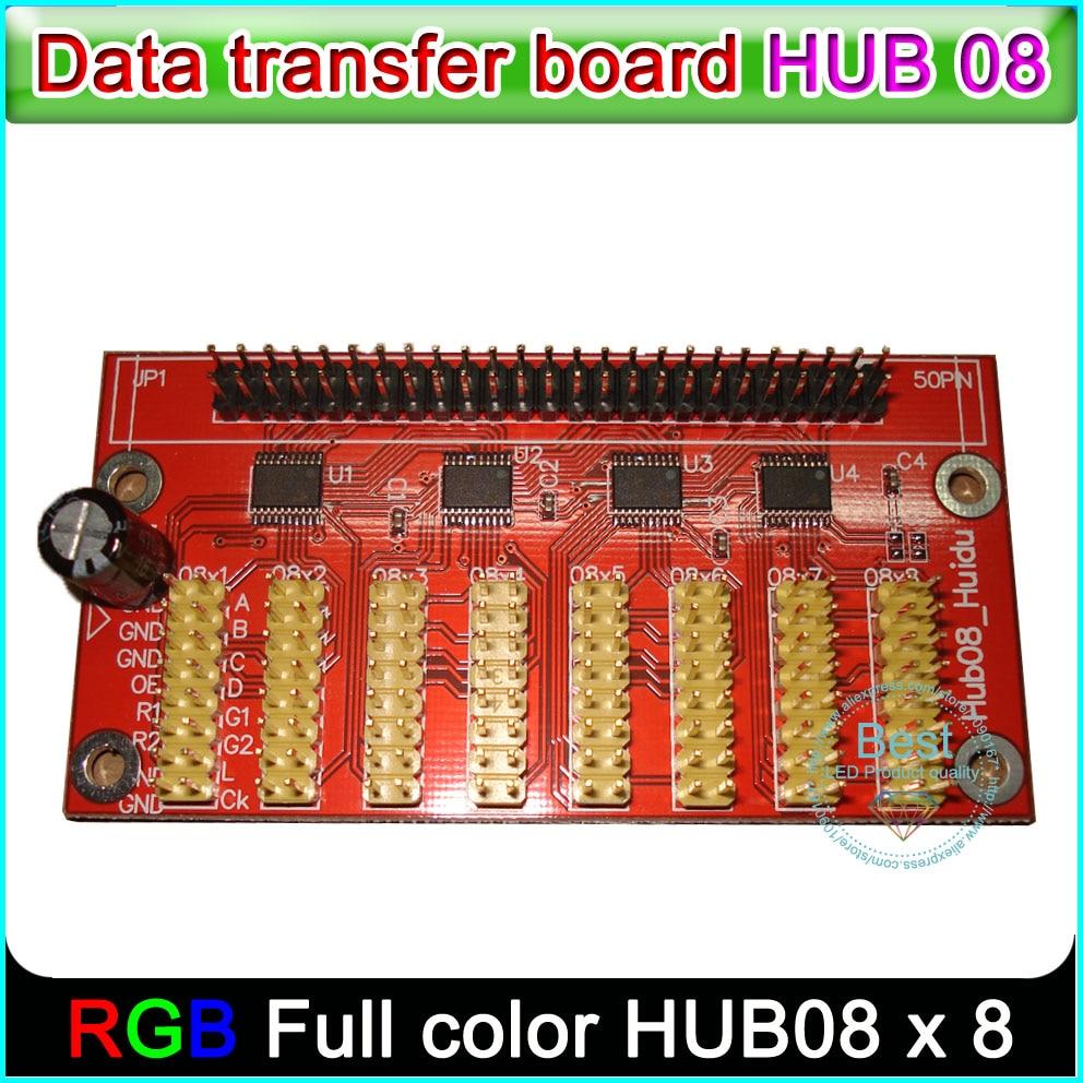 HUB08 Board , Single&double Color Full-color LED Display Control Card Data Transfer Board, P10 Led Module Hub08 Port