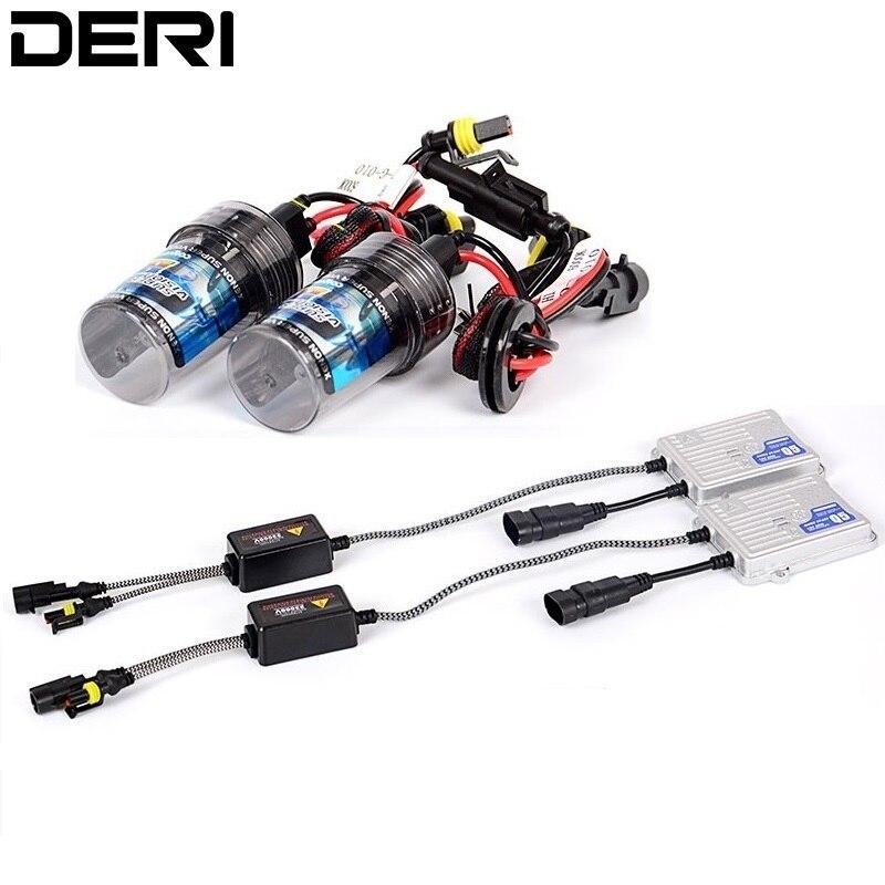 US $32 6 29% OFF|H7 Super Fast Start High Bright Xenon Kit AC Ballast 55W  4300K 6000K 8000K H7 Bulb Car Headlight Retrofit kits Fog Lamp Styling-in