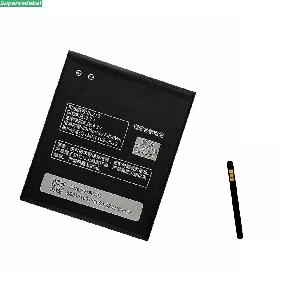 2000mAh BL210 <font><b>Battery</b></font> For <font><b>lenovo</b></font> A536 A606 S820 S820E A750E A770E A656 A766 A658T <font><b>S650</b></font> A828T <font><b>batteries</b></font> Bateria Accumulator image