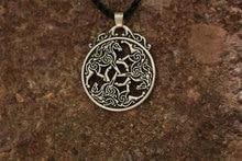Equine Goddess Epona Pendant (3 Celtic Horses)