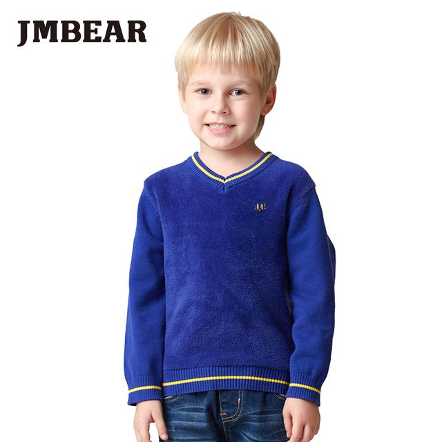 Jmbear 3-6 anos meninos cardigan crianças camisola de malha crianças roupas outono/primavera crianças outwear moda 2016 novo