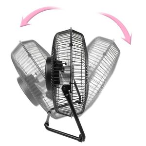 """Image 4 - LILENG 6"""" 8"""" 10"""" Large Black All Metal Electric Rotating USB Powered 18650 Battery Powered Desktop Fan 100% brand new and high q"""