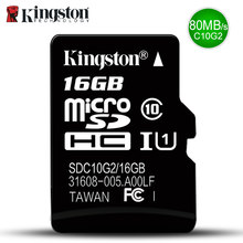 Kingston Micro SD Memory Card 32GB 16GB 64GB Class 10 Mini SD Card Class 4 8GB 16GB With TF Card(China)