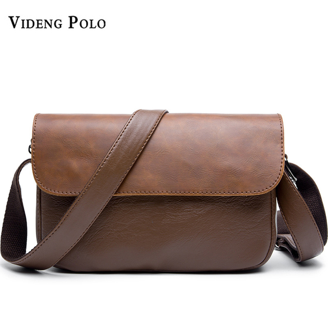 VIDENG POLO Brand Leather Men Messenger Bags Men s Vintage Shoulder Bags  Fashion Crossbody Bags Briefcases Casual Male Bolsas 61211b23c3