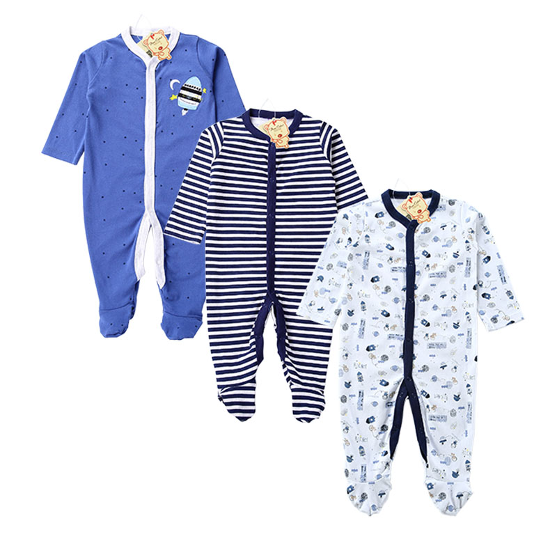Near Cutest 3pcs/lot 2017 Baby Rompers Cotton Long Sleeve Newborn Babies Infantial Baby Girls Boy Clothes Jumpsuit Baby Clothing autumn baby rompers brand ropa bebe autumn newborn babies infantial 0 12 m baby girls boy clothes jumpsuit romper baby clothing