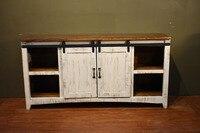 DIYHD 5 5ft Sliding Barn Door Hardward Barn Door Sliding Track Hardware Set
