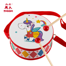 Kids Early Educational Wood Drum Musical Instruments for Children Baby Music Toys Double-sided Beat Instrument Hand Drum Toys kids 8 note wooden musical toys teaching aid child early educational wisdom development music instrument baby toys gift