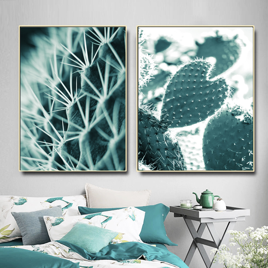 Cactus Tropical Succulent Wall Art Canvas Painting Nordic Poster And Print Pictures For Living Room Scandinavian Home Decor