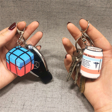 Game PUBG PLAYERUNKNOWN'S BATTLEGROUNDS Keychain Cosplay Acrylic Third-class Airdrop Weapons Key Chain Halloween Props keyring
