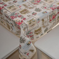 Fashion DIY Cotton Fabric Fabric Fluid Cloth Curtain Fabric Home Sofa Table Cloth Fabric Rose