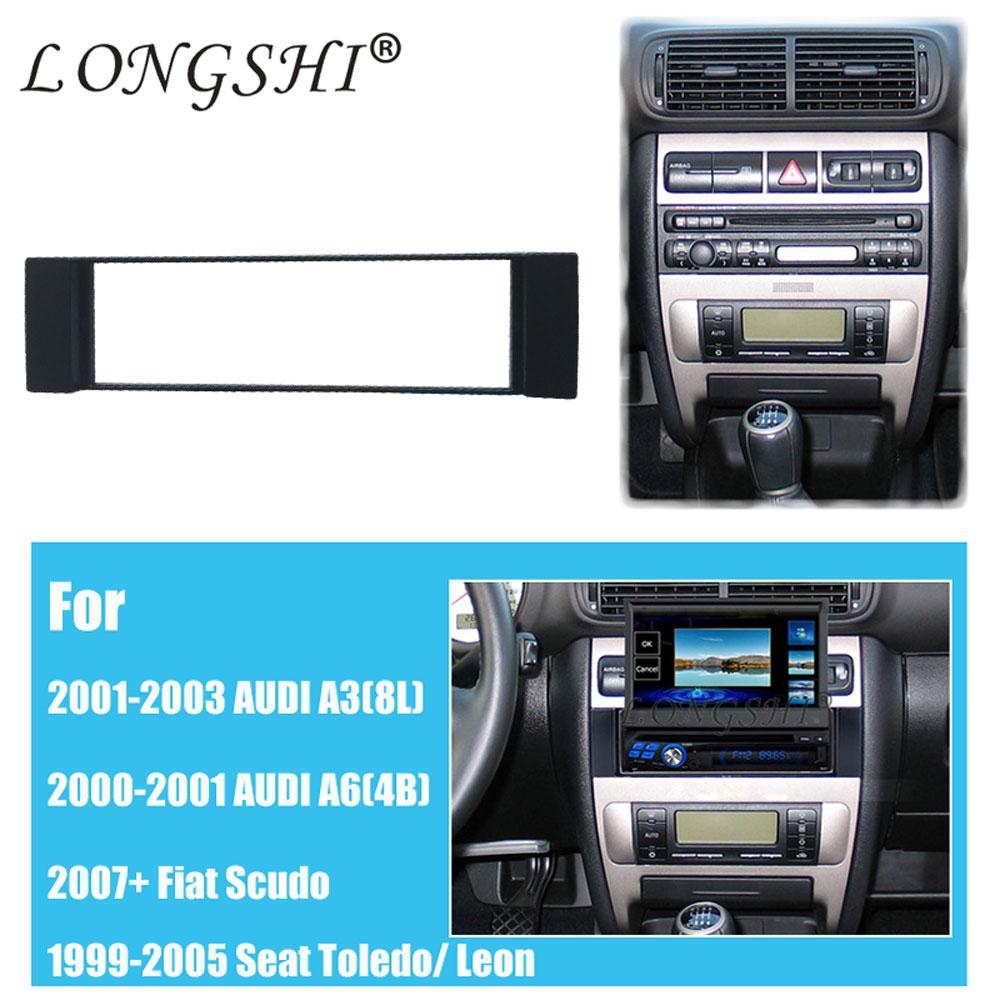 Seicane Nice 1din Car Radio Fascia For 2001 2003 Audi A38l 2000 2005 A6 Fuse Box 1 Din Frame Panel A3 8l