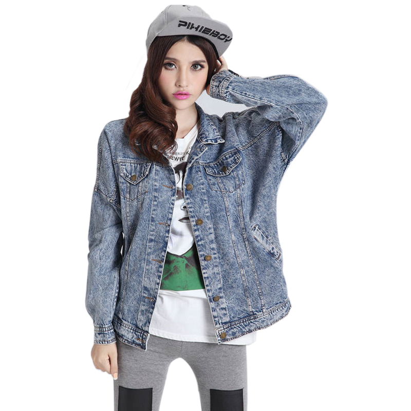 Swag Loose Denim Jacket Women Girl Autumn Boyfriend Jeans Jacket Plus Size  Multi Pockets Blue Coat Casual chaquetas mujer,in Basic Jackets from  Women\u0027s